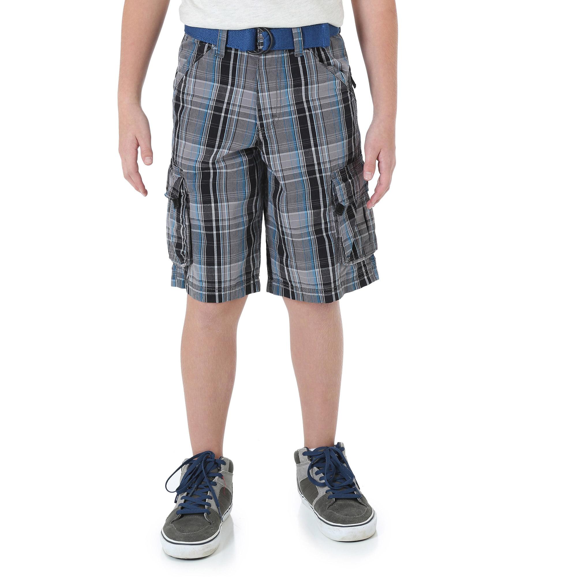 Wrangler Boys' Fashion Plaid Cargo Short