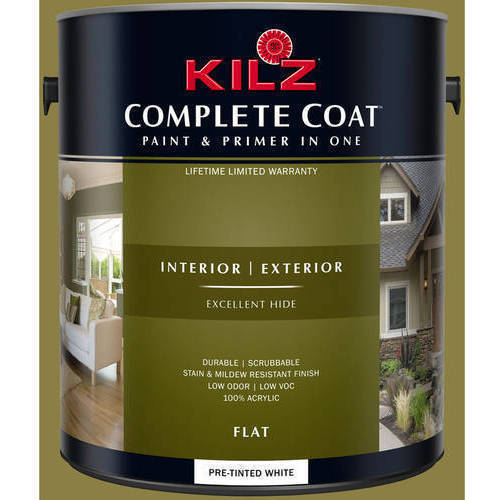 KILZ COMPLETE COAT Interior/Exterior Paint & Primer in One #LF120-02 Olivery