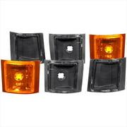 ANZO 521033 Euro Black Corner Lights - 6 Piece