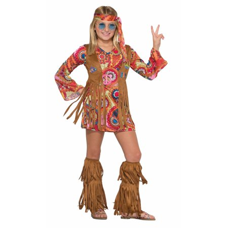 Girls Peace Lovin Hippie Costume - Childs Hippie Costume