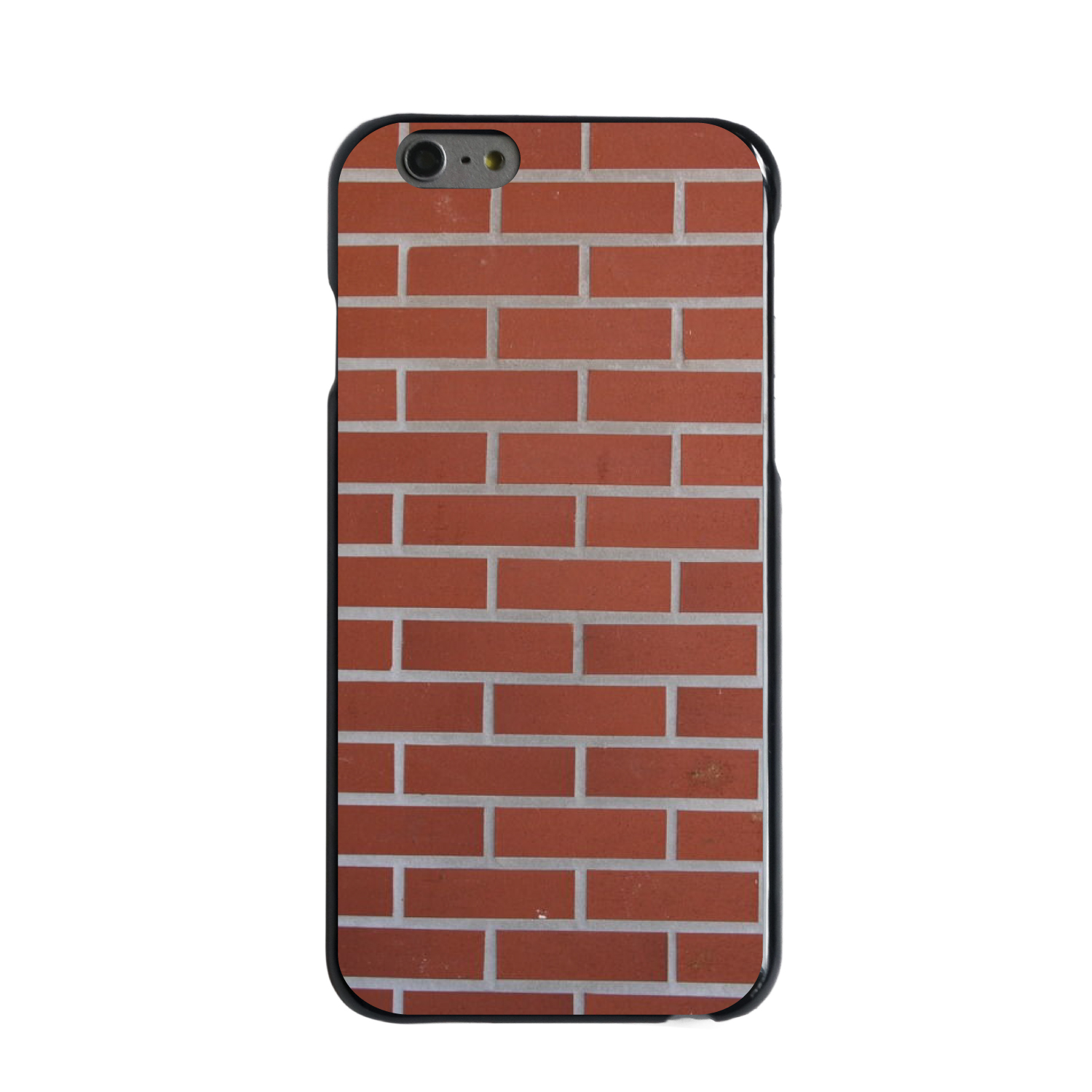 "CUSTOM Black Hard Plastic Snap-On Case for Apple iPhone 7 PLUS / 8 PLUS (5.5"" Screen) - New Red Brick Wall"