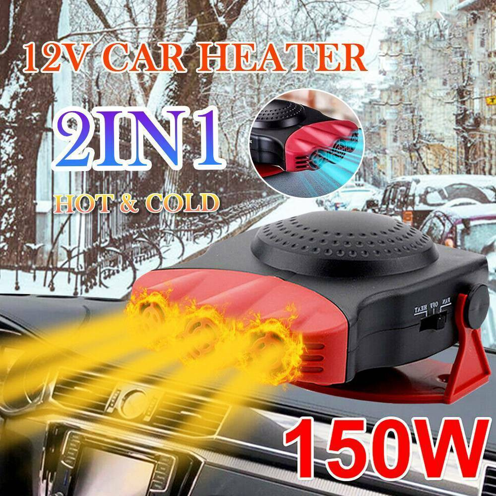DC 12V Car Auto Portable Electric Heater Heating Cooling Fan Defroster Demister