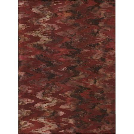 "Rust Brown Chevron on Dark Brown Batik ~HALF YARD~ Cornucopia 4 AMD-13814-191 Autumn ~ Quilt Fabric 100% Cotton 45"" Wide, Rust brown chevrons batik stamped on.., By Robert Kaufman"