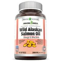 Amazing Omega Wild Alaskan Salmon Oil 2000Mg 180 Softgels 2000mg 180 Softgels