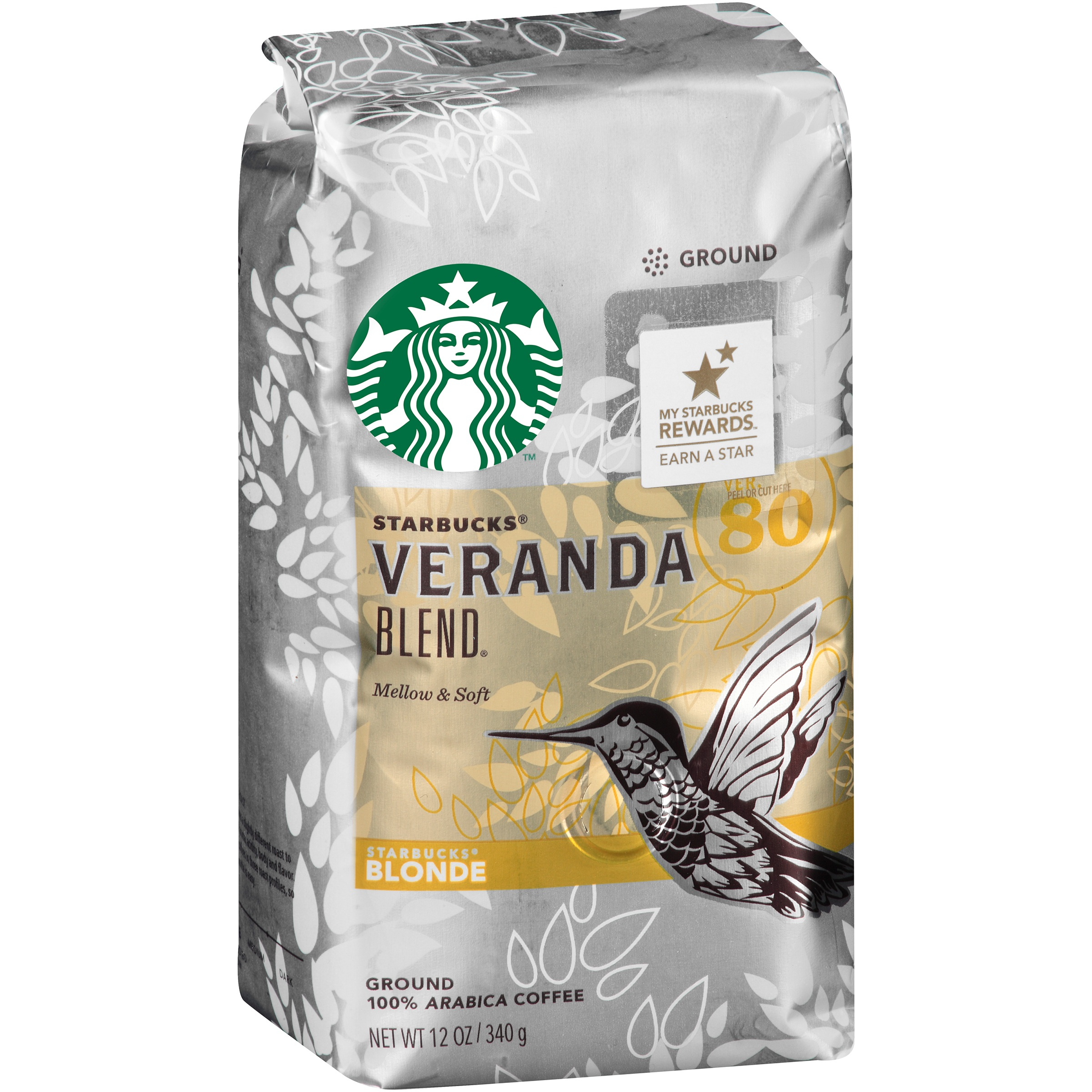 Starbucks Blonde Veranda Blend Ground Coffee, 12 oz