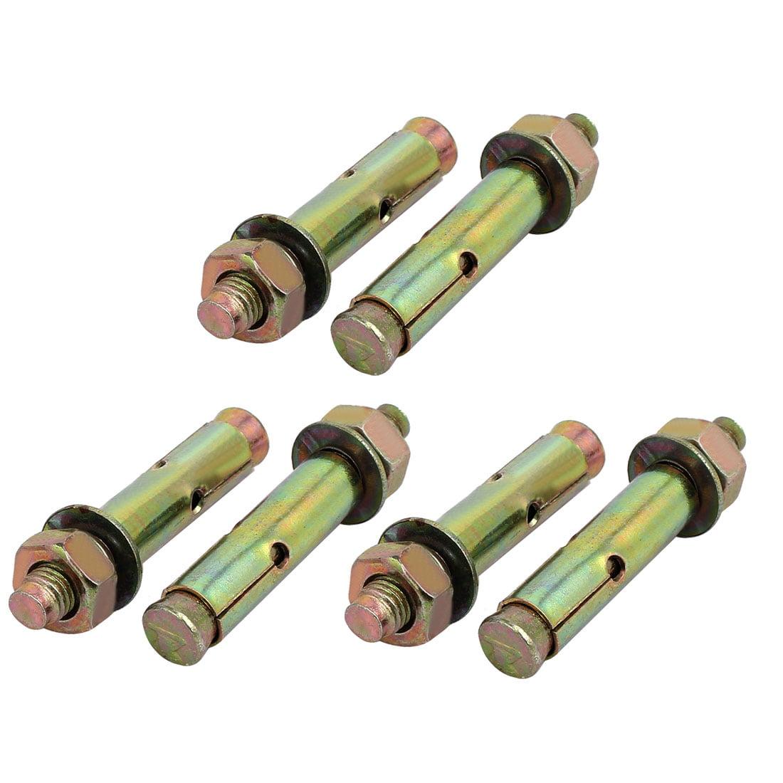 M10x70mm Zinc Plaqué Anchor Boulon Expansion Boulon Bronze 6pcs - image 3 de 3