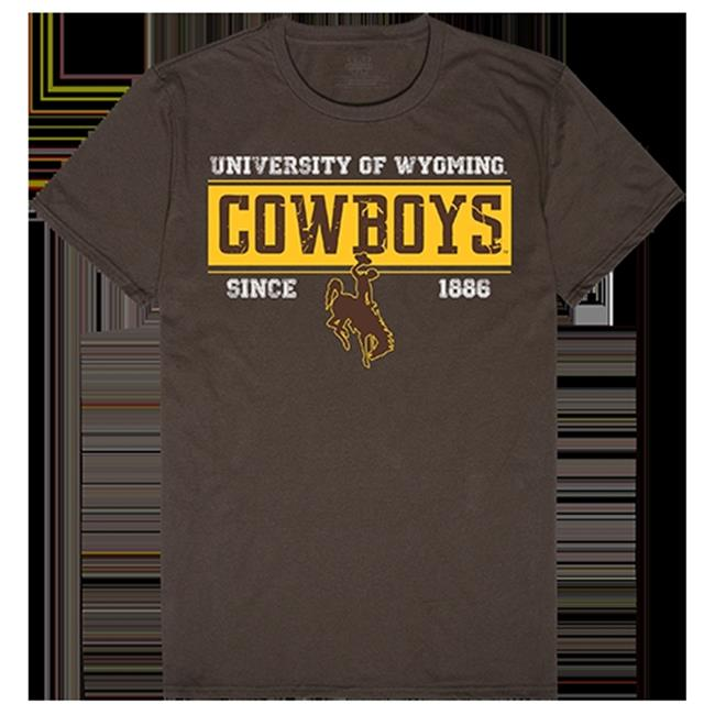 W Republic Apparel 507-200-313-02 University of Wyoming Established Tees for Men, Brown - Medium - image 1 de 1