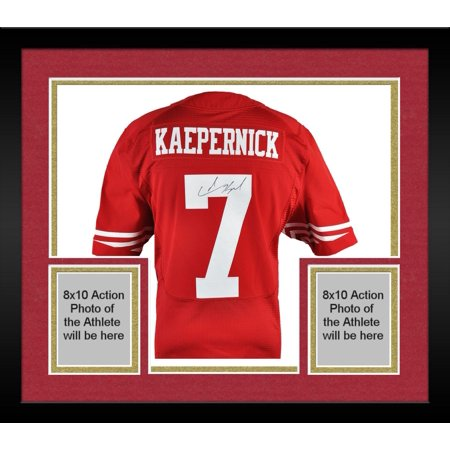 wholesale dealer c8515 33d72 Framed Colin Kaepernick San Francisco 49ers Autographed Red ...