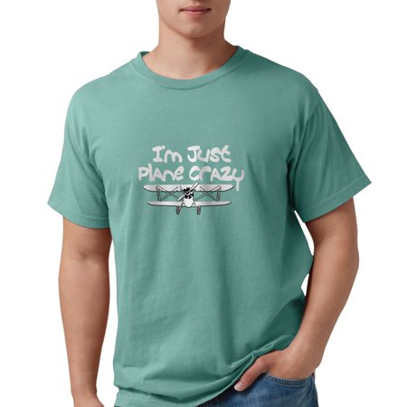 CafePress - Funny Plane Crazy Airplane Pilot Design T-Shirt - Mens Comfort Colors® Shirt