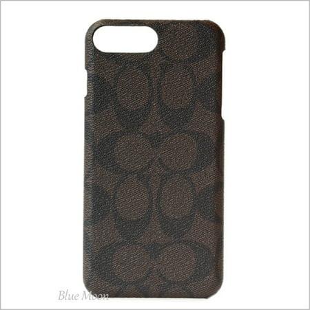 Coach Signature Coated Canvas Phone Case for iPhone 8 Plus/iPhone 7 Plus, Mahogany