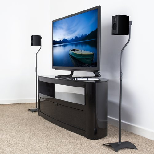 AVF EAK80B-A Surround Sound Speaker Floor Stands, Set of 2