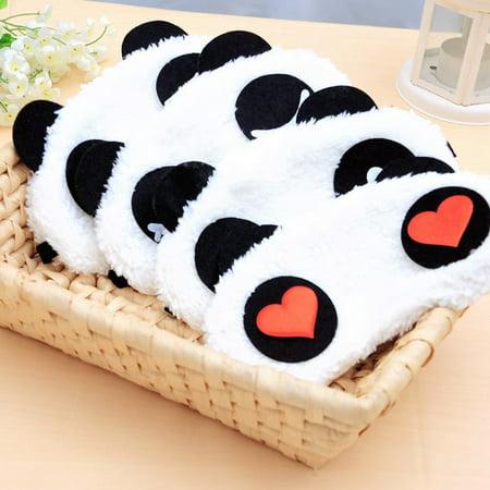 2Pack Lovely Panda Face Eye Travel Sleeping Mask Blindfold Cute Christmas