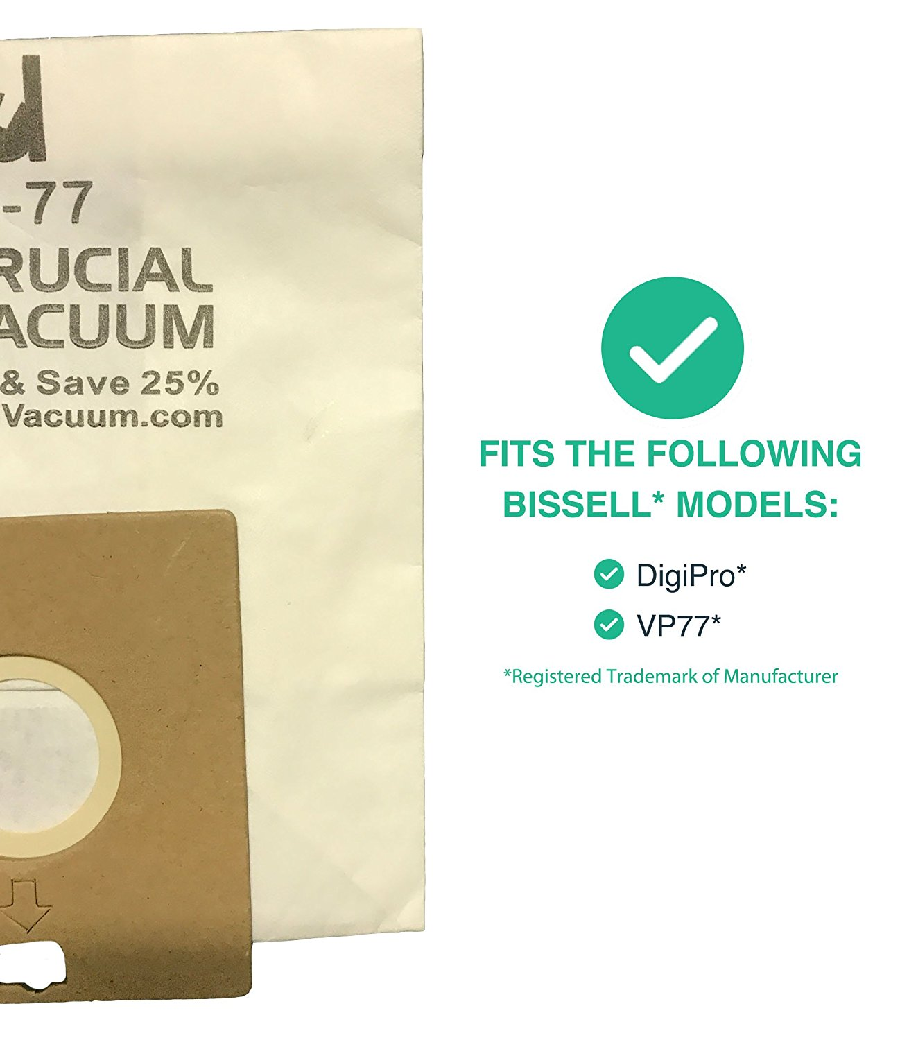 By Think Crucial 20 Replacements for Bissell Bags Fit VP-77 Power Partner /& Power Partner Plus Canisters Compatible With Part # 2032026