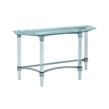 Furniture of America Jourdan Modern Sofa Table in Chrome