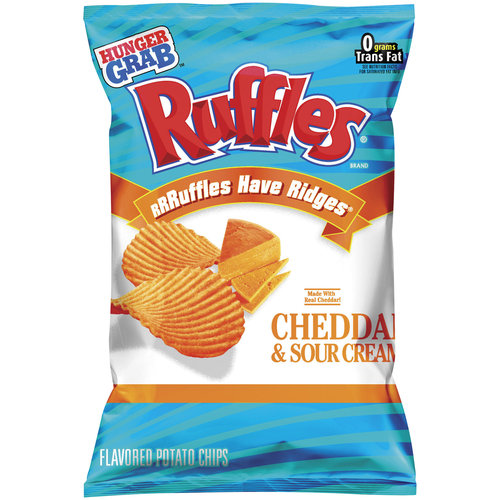 Frito Lay Ruffles  Potato Chips, 2.5 oz