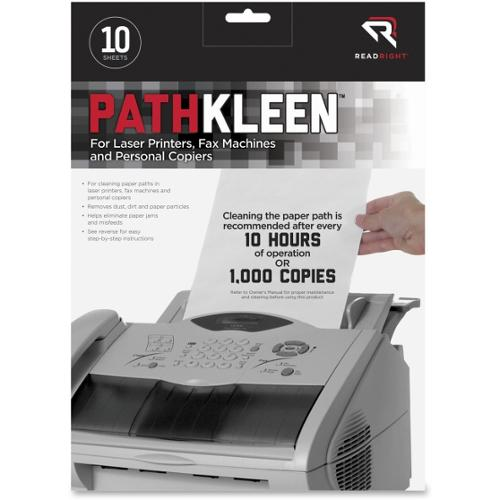 Read Right Pathkleen Laser Printer Cleaning Sheets - 10 / Pack