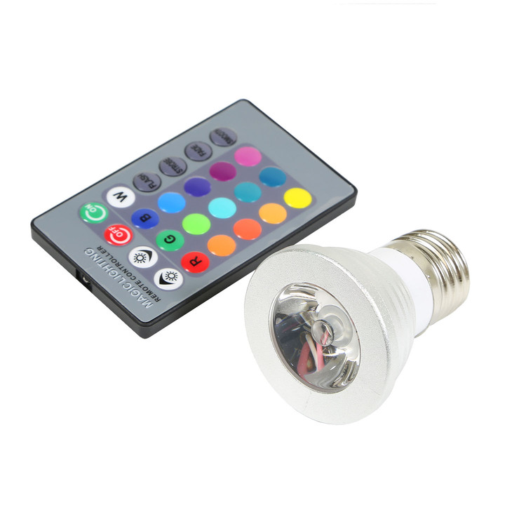 16 Color RGB Magic LED Light Bulb with Remote Control