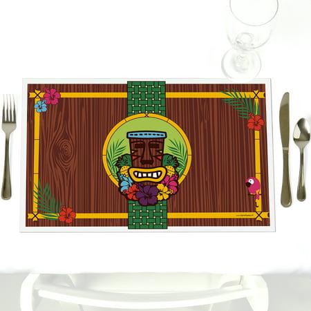 Tiki Luau - Party Table Decorations - Tropical Hawaiian Summer Party Placemats - Set of 12](Hawaiian Luau Party)