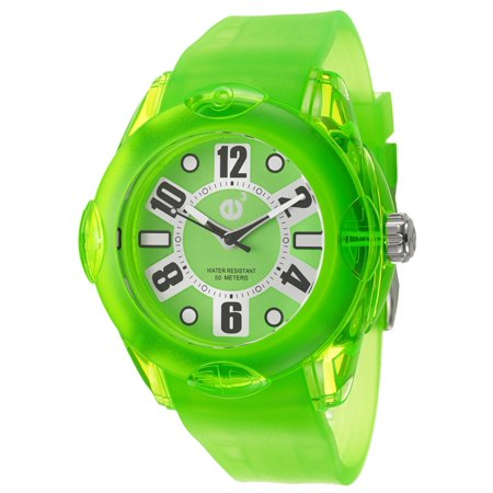 Rainbow Aura Quartz - Tendence  Women's 'Rainbow XL' Neon Green Polycarbonate Quartz Watch