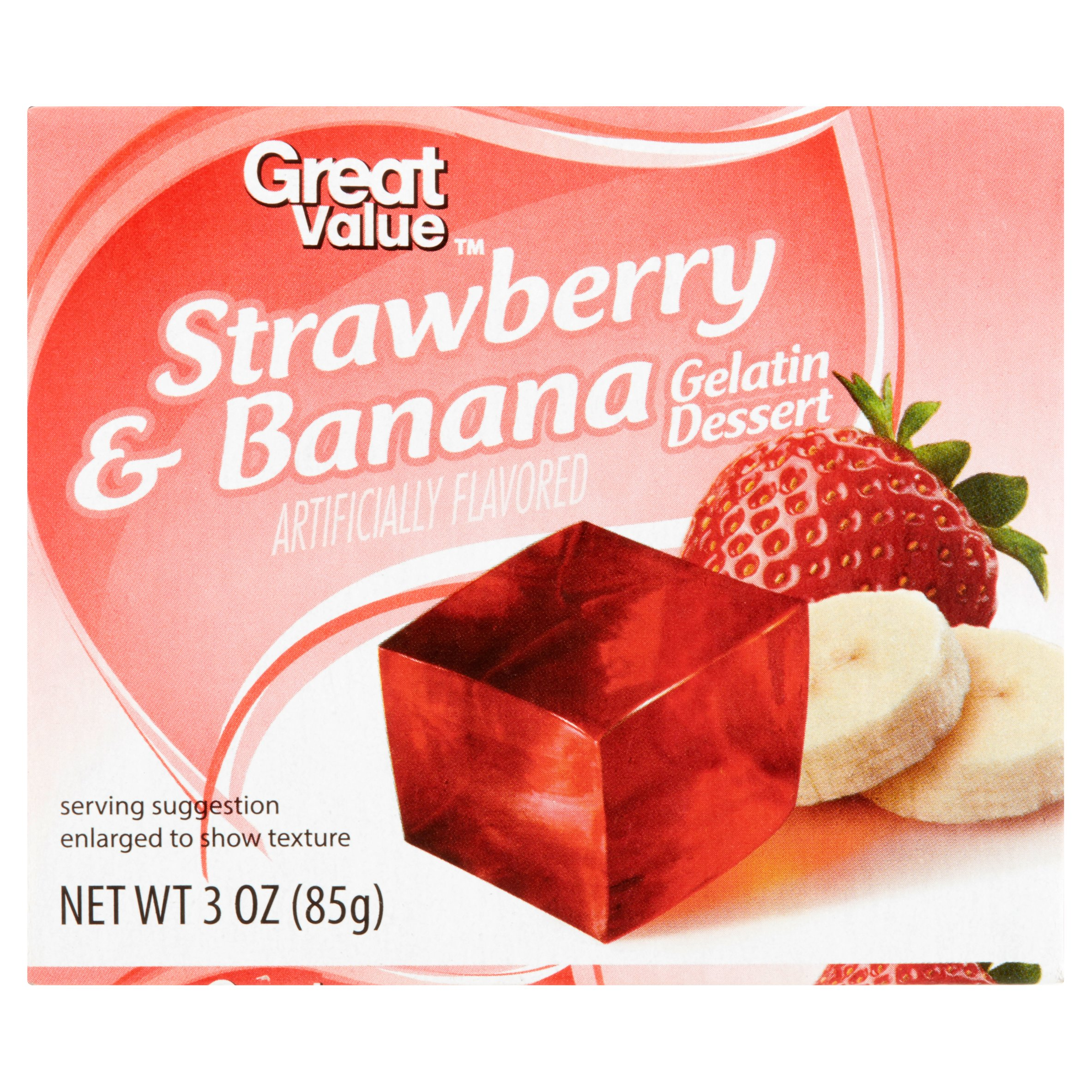 Great Value Strawberry Banana Gelatin Dessert, 3 oz by Wal-Mart Stores, Inc.