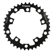 Eclypse, Glide-Pro SS 3/32, 46T, Single speed, BCD: 110/130mm, 5 Bolt Outer Chainring, Alloy, Black