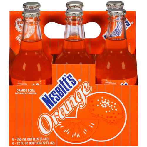 Nesbitt's Orange Soda, 12 fl oz, 6 pack