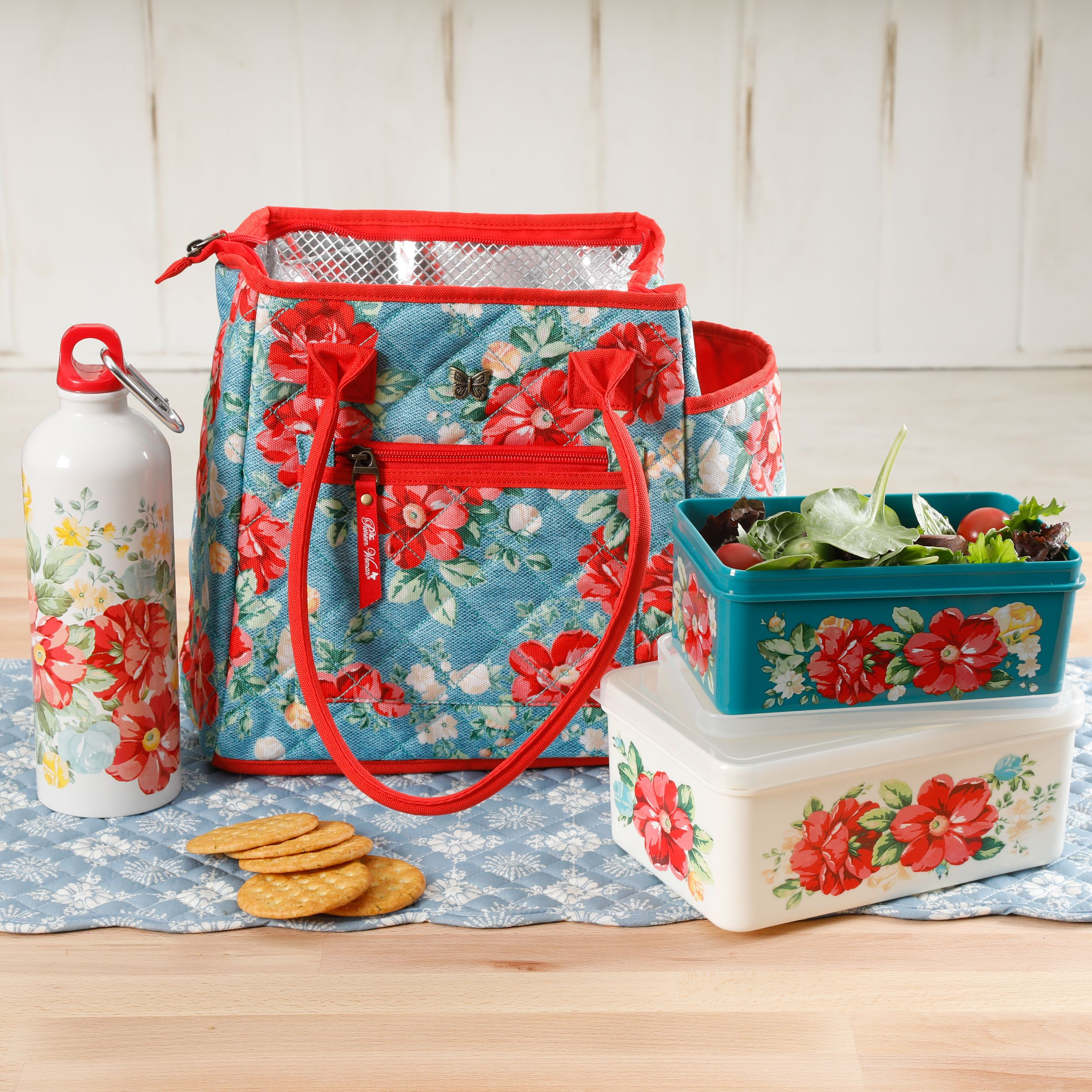 The Pioneer Woman Vintage Floral 4-Piece Lunch Combo Set