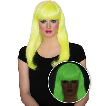 Womens Yellow Glow Babe Halloween Costume Accessory - Glow Costumes