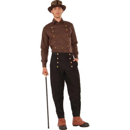Brown Steampunk Shirt Men's Adult Halloween Costume