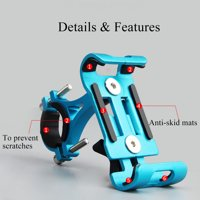 Kadell Full Aluminum Bicycle MTB Bike Motorcycle Handlebar Phone Holder Mount for iPhone Xs/XS MAX/XR/X/8/8 Plus, for Samsung Galaxy Note 9 8 S10/S9/S8/S8 Plus/S7 Edge, for HUAWEI