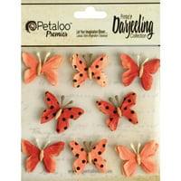 Petaloo Darjeeling Teastained Butterflies, Mini, Spice, 8-Pack Multi-Colored