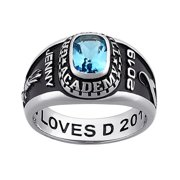Personalized Women's Classic Platinum Plated Celebrium Class Ring