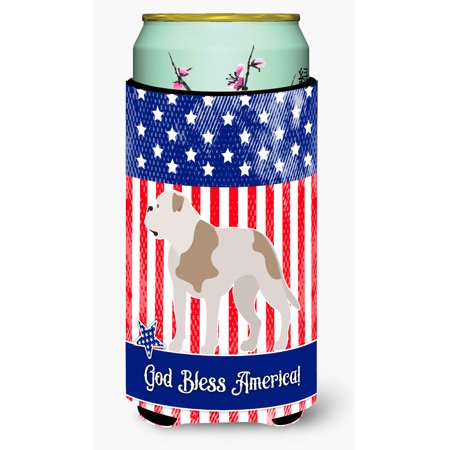 American Bulldog American Tall Boy Beverage Insulator Hugger - Bulldogs Beverage