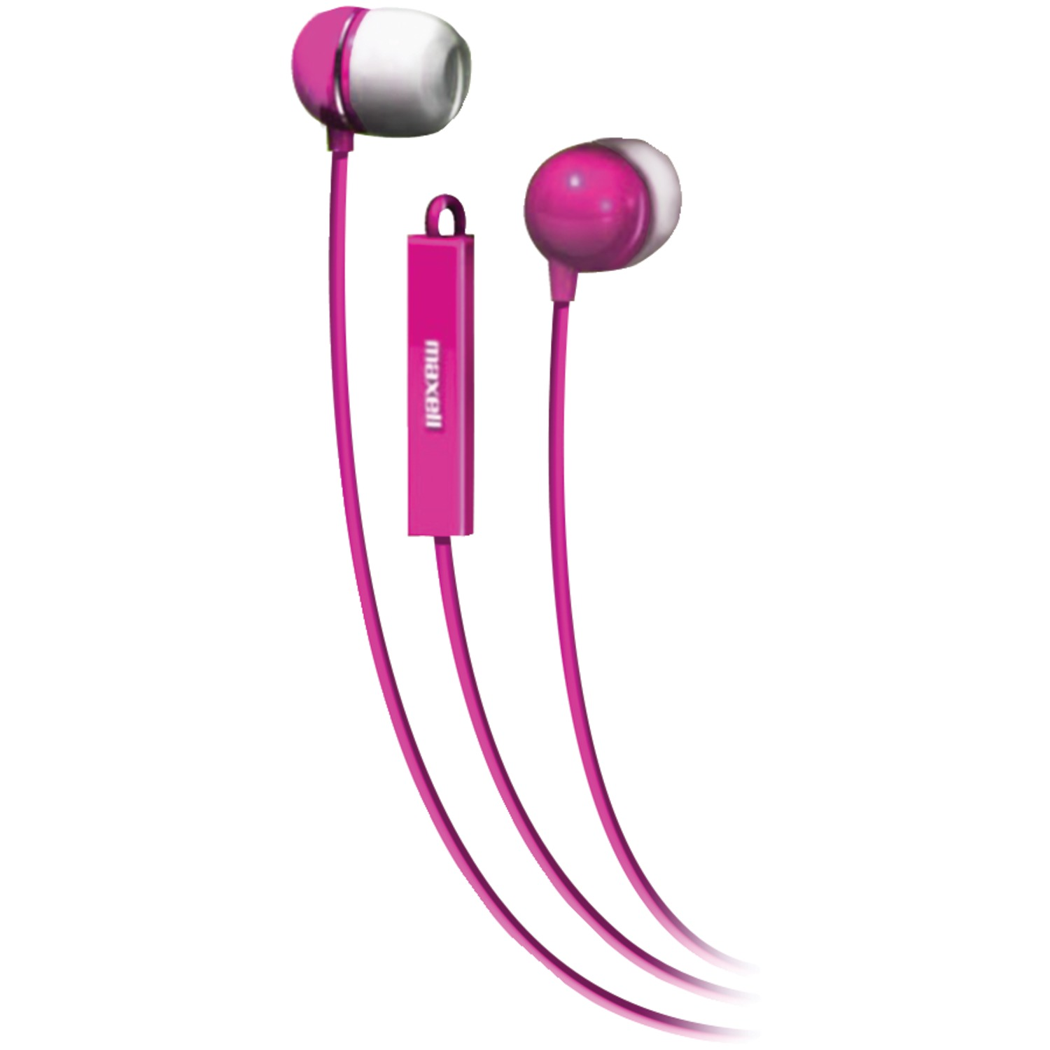 Maxell, MAX190300, In-Ear Earbuds with Microphone and Remote, 1, Black