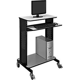 Mobile Computer Workstation with Keyboard & Mouse Tray, 46