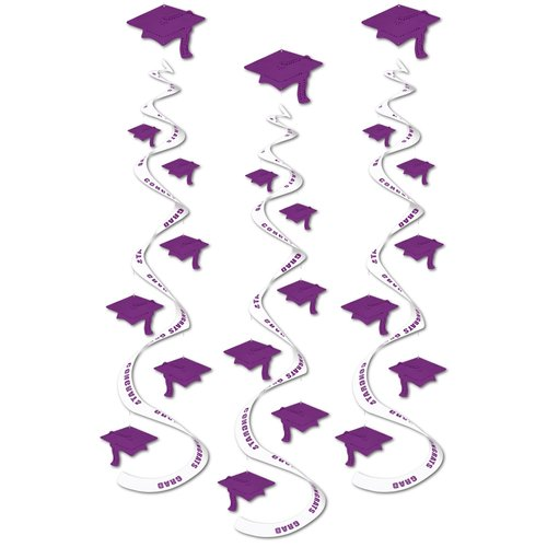 The Party Aisle Graduation Printed Cap Whirl (Set of 6)