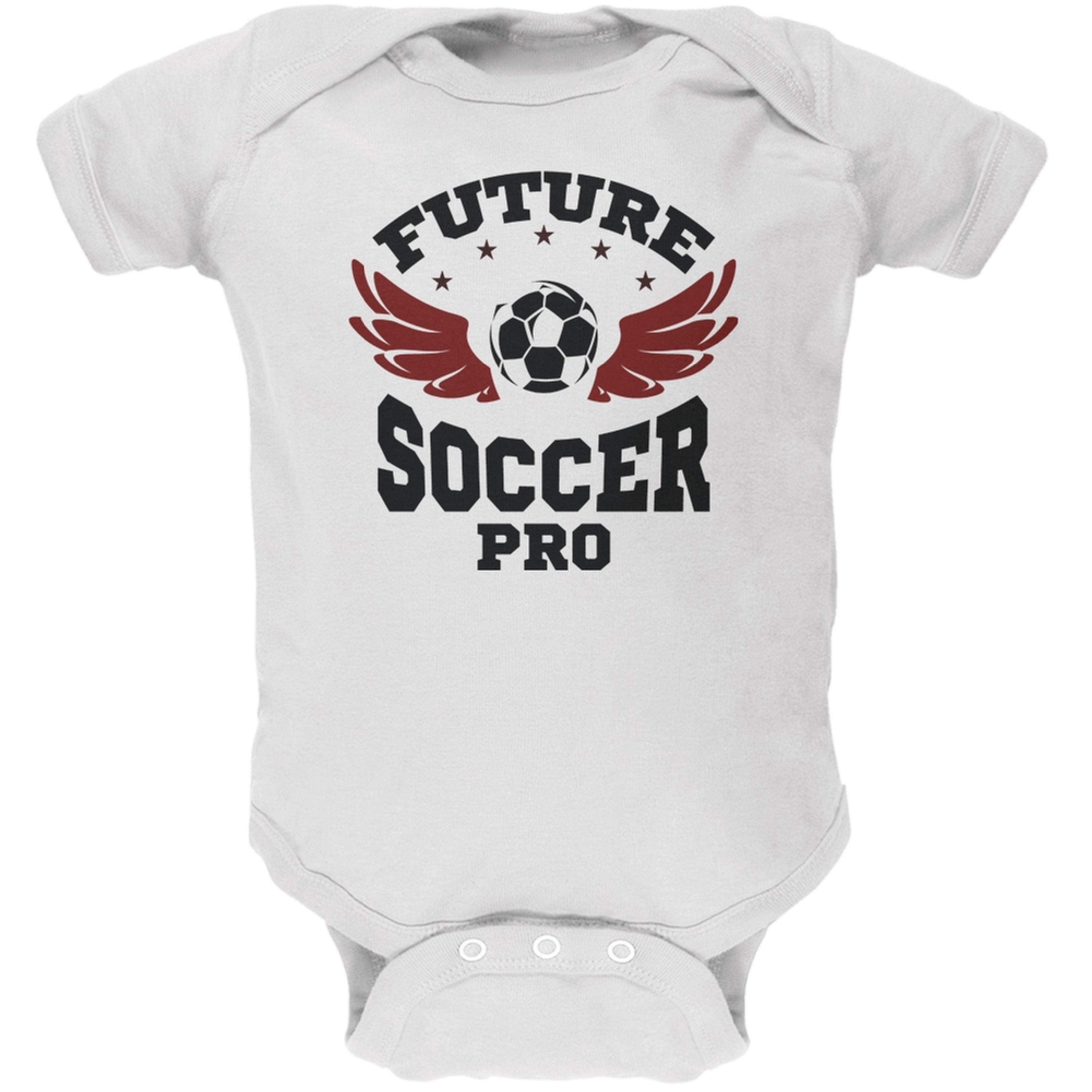 Future Soccer Pro White Soft Baby One Piece