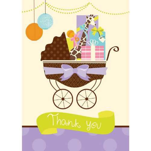 Baby Shower 'Modern Mommy' Thank You Notes w/ Envelopes (8ct)