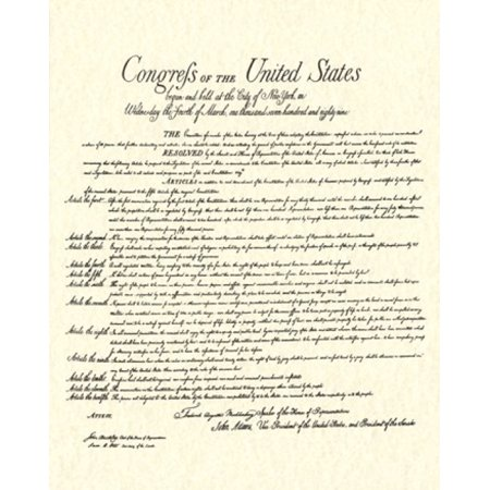 Bill of Rights (Document) Rolled Canvas Art -  (16 x 20) (Rolled Document)