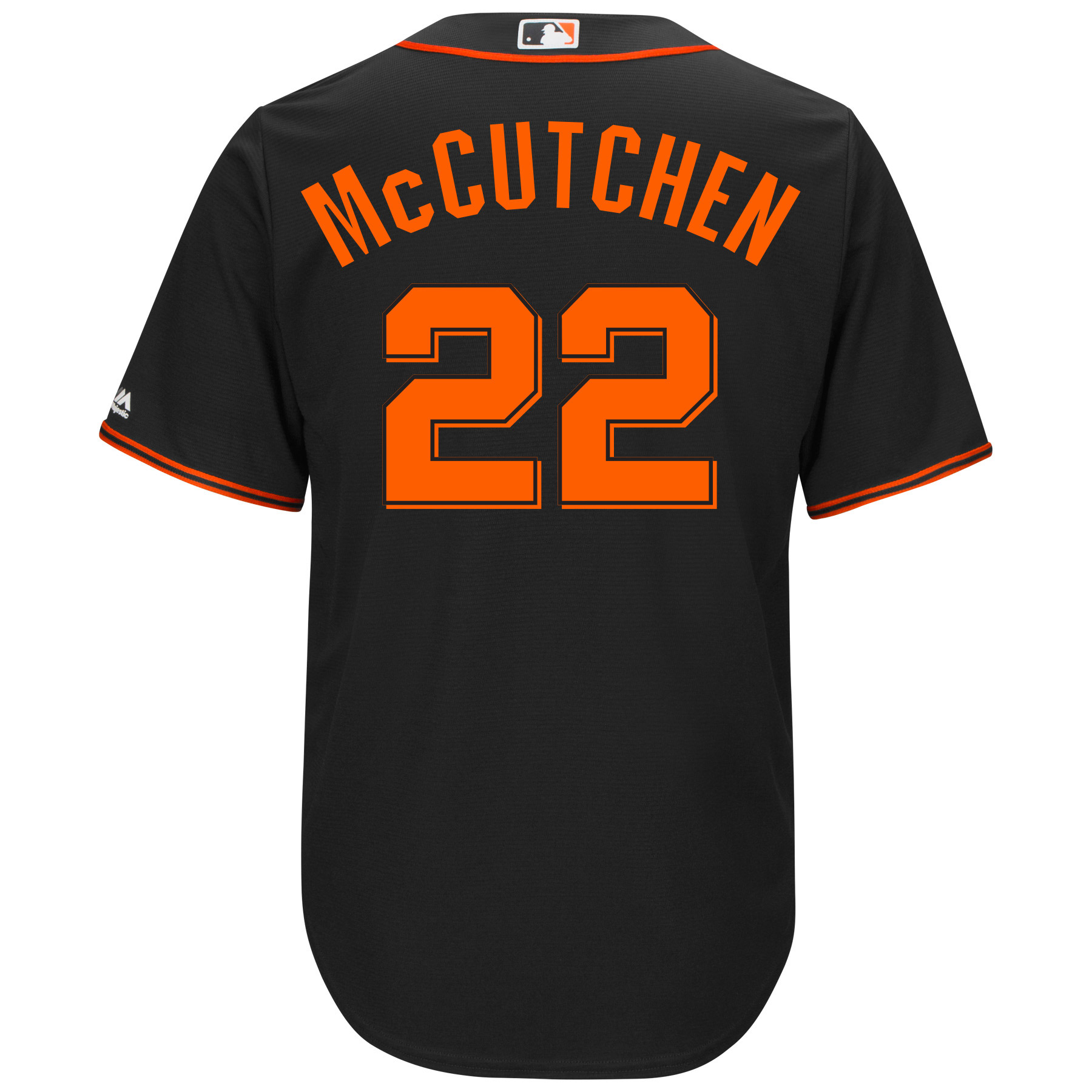 new products e6e8c 1a061 Andrew McCutchen San Francisco Giants Majestic Cool Base Player Replica  Jersey - Black