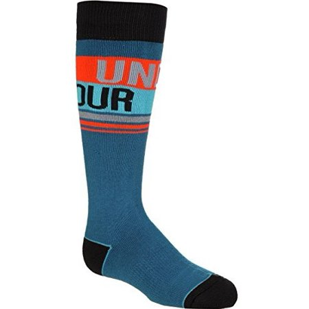Under Armour UA MTN Retro Stripe Over-The-Calf Ski Sock - Boys' Peacock Blue, L - Boys Retro