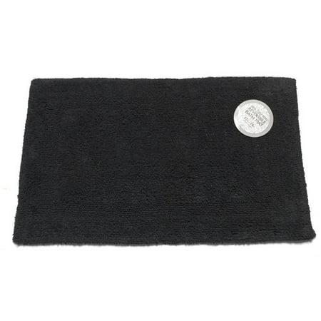 Medium Sized Reversible Cotton Bath Mat In Black
