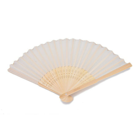 21cm Chinese Bamboo Silk Hand Fan Wedding Favors Guests Gifts With Gift Box (Wedding Guest Gift)