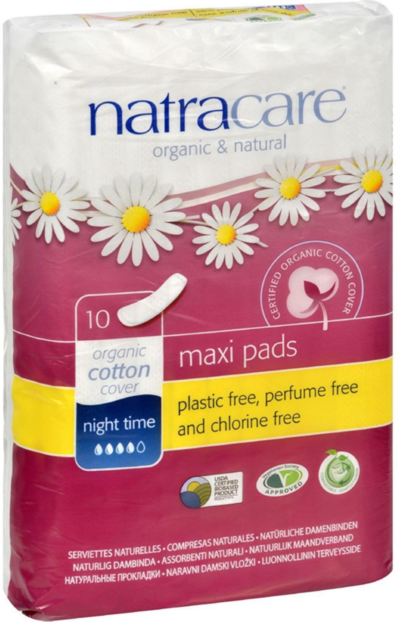 2 Pack Natracare Organic Cotton Natural Feminine Night