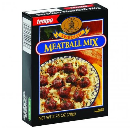 Swedish Meatball Mix - (3 Pack) Tempo Swedish Meat Ball Mix, 2.75 Ounce Packet