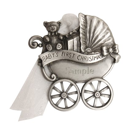 First Christmas Carriage (Personalized Pewter Baby's First Christmas Carriage)
