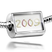 Neonblond Charm 2009 Birthday Party Candles 925 Sterling Silver Bead