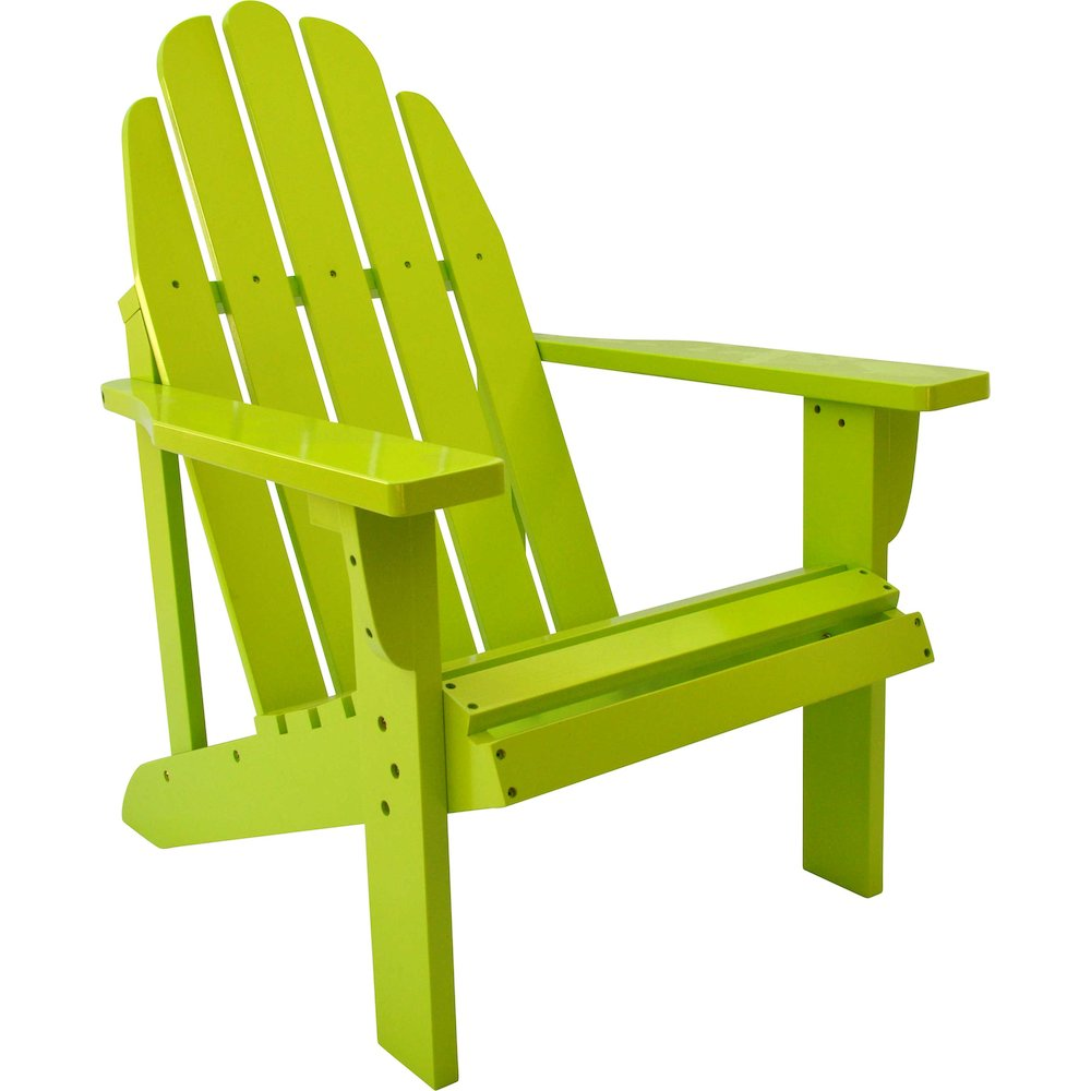 Shine Company Catalina Adirondack Chair, Cedar Wood - Lime Green