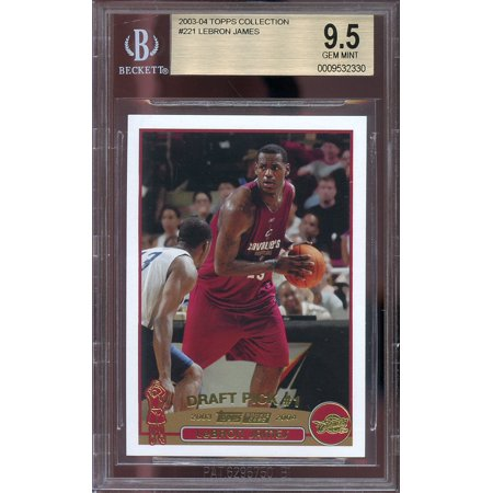2003 04 Topps Collection 221 Lebron James Cavaliers Rookie Card Bgs 95