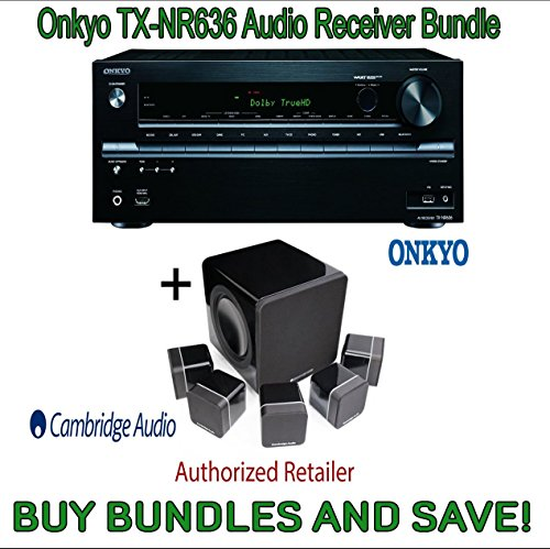 Onkyo TX-NR636 7.2-Channel Network A V Receiver & Cambridge Audio Minx S215 v2 5.1 Home Cinema System High Gloss by Electronics Expo